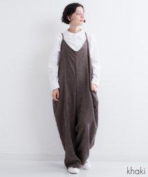 fillil/コーデュロイ ワイドサロペットパンツ【ブランド:fillil】/501236475