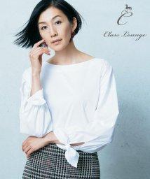 JIYU-KU /【Class Lounge】ALBINI COTTON リボンディテールブラウス/501237423