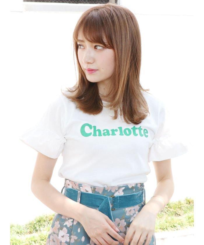 CharlotteロゴフリルTシャツ