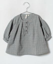LAGOM/グレンチェックブラウス/501197687