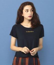 MIIA/ロゴ刺繍Tシャツ/501226879