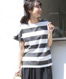 coen/【WEB限定・復刻・人気】ワイドボーダーボートネックTシャツ/501227769