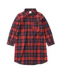 devirock/キッズ 子供服 ネルチェックワンピース ネルシャツ 女の子/501236315