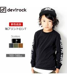 devirock/袖ロゴプリント長袖Tシャツ/501237186