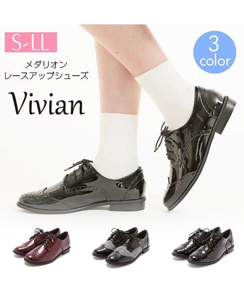 Vivian(ヴィヴィアン)/メダリオンレースアップシューズ/V2856ATH