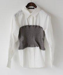 REAL CUBE/CYNICAL ニットビスチェドッキングシャツ/501239414