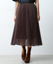 ROPE' mademoiselle/【ペチコート付き】シフォンオーガンジープリーツスカート/501239429