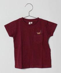 LAGOM/アニマルポケット刺繍半袖Tシャツ/501176896