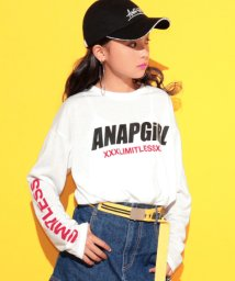 ANAP GiRL/袖ロゴBIGロンTシャツ/501222347