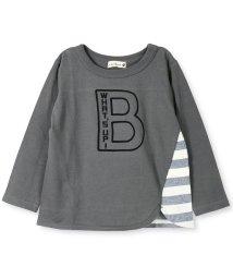 branshes/Bロゴプリント長袖Tシャツ/501239317