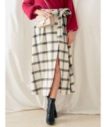 MERCURYDUO/チェック柄ロングラップ風スカート/501239865