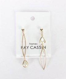 framesRayCassin/ゴールド×パールアシメピアス/501241055