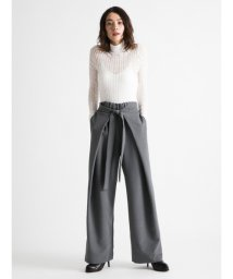 styling//Wide tuck pants/501242559