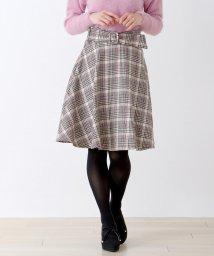 MISCH MASCH/【美人百花11月号掲載】ウールチェックフレアースカート/501192720