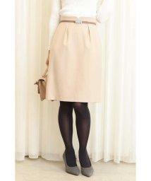PROPORTION BODY DRESSING/ウーリッシュフラノビジュー調ベルト付きタイトスカート/501243886
