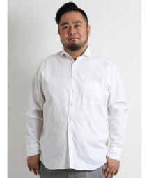 GRAND-BACK/【大きいサイズ】新疆綿カラーネップホリゾンタルカラーシャツ/501244331