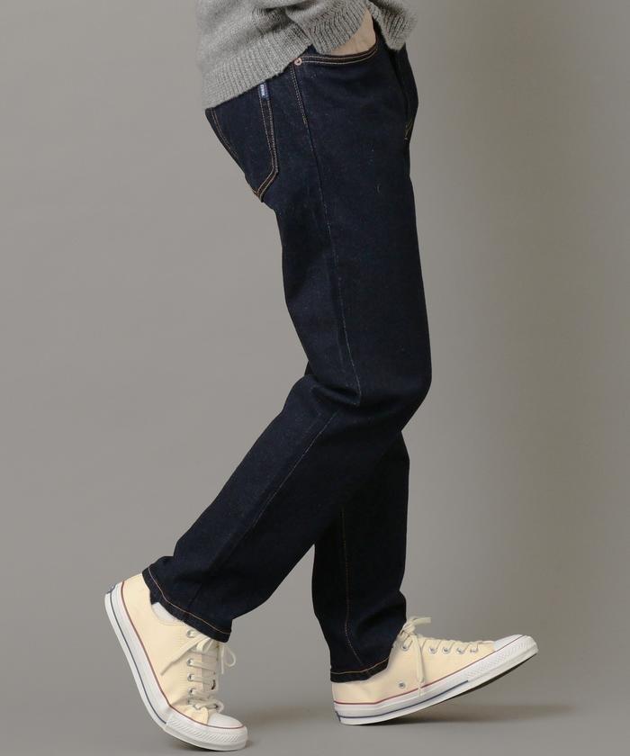 EDWIN×SHIPS JET BLUE: 別注 JAPANデニム 5PKスリムテーパードパンツ