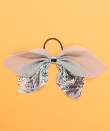 ninon/大ぶり配色花柄シフォンリボンヘアゴム/501246770