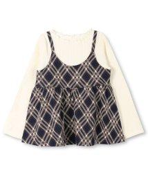 branshes/チェックキャミソール重ね着風長袖Tシャツ/501246991