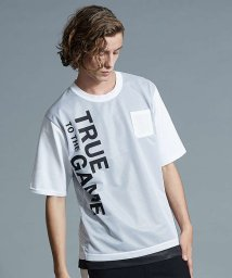 5351POURLESHOMMES/SPALDINGプリントメッシュTシャツ/501248553