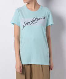 LEVI'S LADY/PERFECT GRAPHIC TEE STRIPES ICED AQUA GR/501228205
