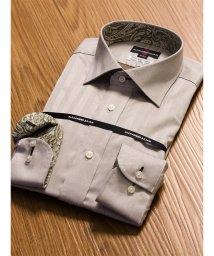 TAKA-Q/綿100%形態安定(ノーアイロン)レギュラーフィットワイドカラー長袖ビジネスドレスシャツ/501198406