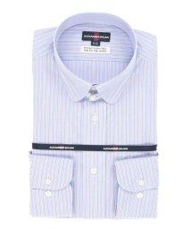 TAKA-Q/綿100%100双形態安定(ノーアイロン)レギュラーフィットテープ縫製ラウンドタブカラービジネスドレスシャツ/501198428