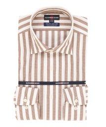 TAKA-Q/綿100%形態安定(ノーアイロン)レギュラーフィットテープ縫製ワイドカラービジネスドレスシャツ/501198437