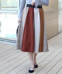 Bou Jeloud/チェック配色切替スカート/501240297