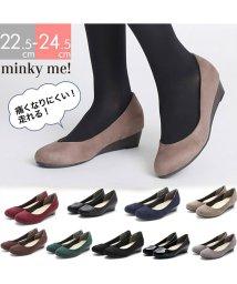 minky me!/ラウンドトゥローウェッジ走れるキレイめパンプス /501251740