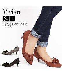 Vivian/フリルポインテッドトゥパンプス/501251755