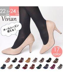 Vivian/ポインテッドトゥ9cmキレイめパンプス/501251757