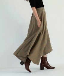 marjour/CHECK SWITCHING SKIRT/501255951