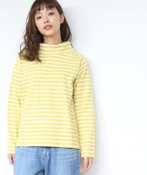 coen/【先行販売】ボーダーハイネックカットソー/501256402