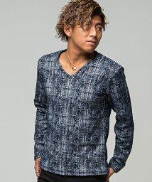 CavariA/CavariA【キャバリア】モザイクチェックVネック長袖Tシャツ/501256740