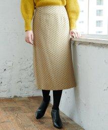 ROPE' PICNIC/【WEB限定】ドットジャガードロングタイトスカート/501257057