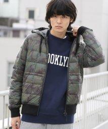 coen/【MENS】TAION(タイオン)フーデッドダウンジャケット(カモ柄)/501252712