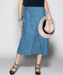 Viaggio Blu/≪大きいサイズ≫ハイウエストラップAラインスカート/501257246