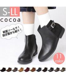 Cocoa/軽量ソール&ローヒールベルテッドショートブーツ/501258230