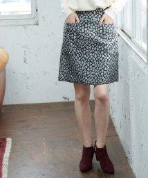 ROPE' PICNIC/【WEB限定】ラメジャガード台形スカート/501259309