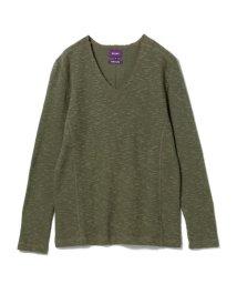 BEAMS MEN/BEAMS / タチキリスラブ Vネック Tシャツ/501158476