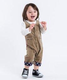 SHIPS KIDS/SHIPS KIDS:フェイク オーバーオール ロンパース/501262255