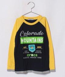 crocs(KIDS WEAR)/CROCSフェイクレイヤードロングTシャツ/501157608