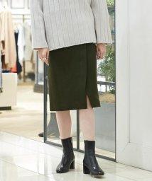 MACPHEE/ウールメルトンジャージー ラップタイトスカート/501263510