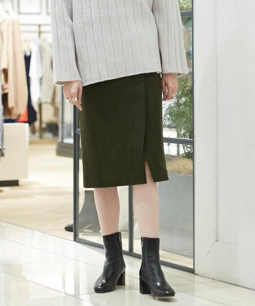 MACPHEE(MACPHEE)/ウールメルトンジャージー ラップタイトスカート/12058405201