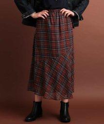 eur3/【大きいサイズ】シフォンチェックマーメイドスカート/501229936