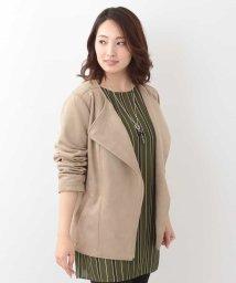 eur3/【大きいサイズ】フェイクスエードデザインジャケット/501229939