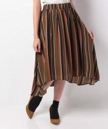 STYLEBLOCK/パウダーサテンマルチストライププリントスカート/501070563