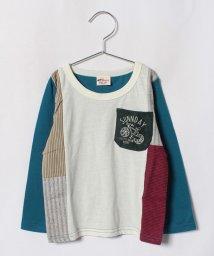A-MACH/パッチワーク切替Tシャツ/501246967