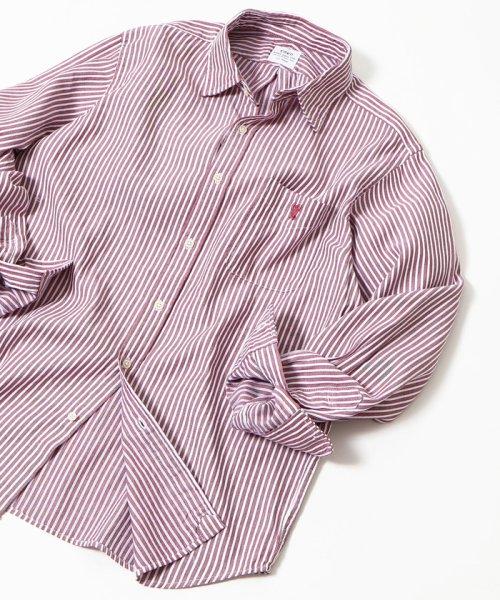 coen(コーエン)/オックスフォードドビーストライプレギュラーカラーシャツ/75106048108
